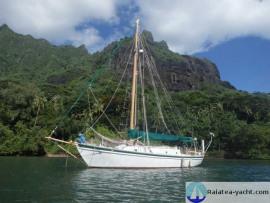 Cotre aurique Acier - Raiatea Yacht Broker