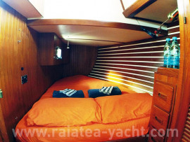 Double cabin aft on port