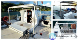 Center cabin and aft deck